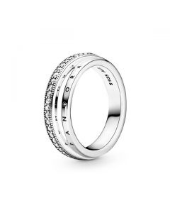 Triple Band Pave Ring