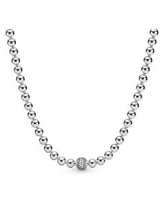 Beads & Pave Necklace