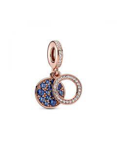 Sparkling Blue Disc Dangle Charm
