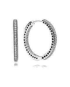 Hearts of PANDORA Hoop Earrings, 27 mm