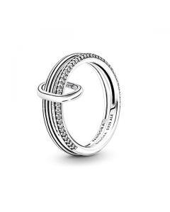 Pandora ME Pave Sparkling Silver Base Ring Set