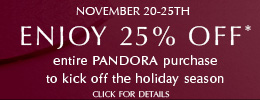 PANDORA Black Friday Promotion