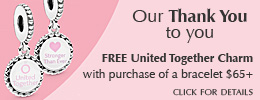 Free United Together Charm w/$65+ Bracelet
